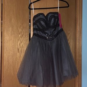 Beautiful Brand New Fancy Grey Dress